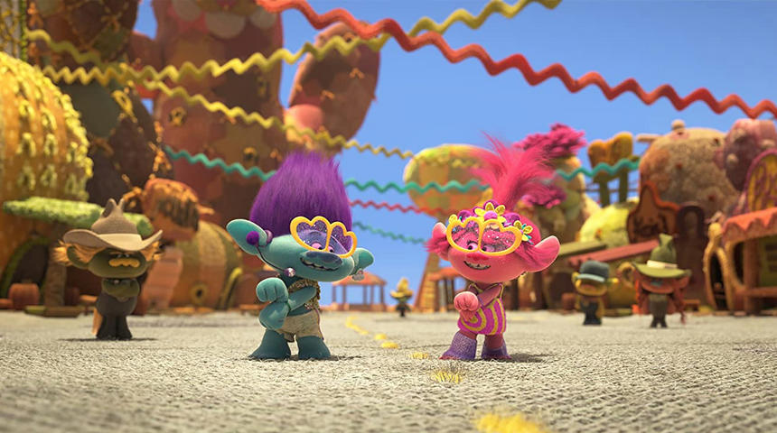 Trolls World Tour offert à la maison