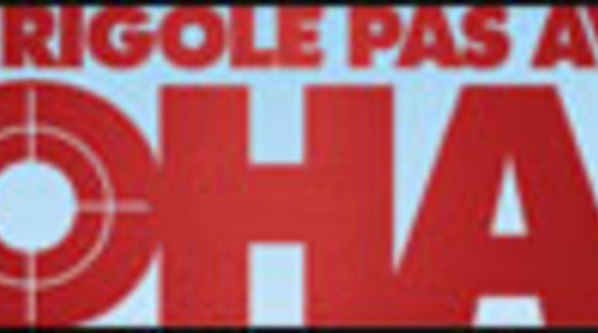 Affiche en français de On ne rigole pas avec le Zohan